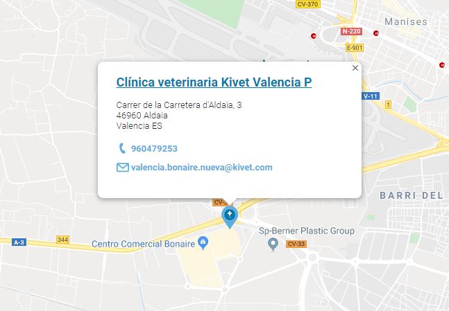 Clínica Veterinaria Kivet en el Parque Comercial Bonaire. Valencia.