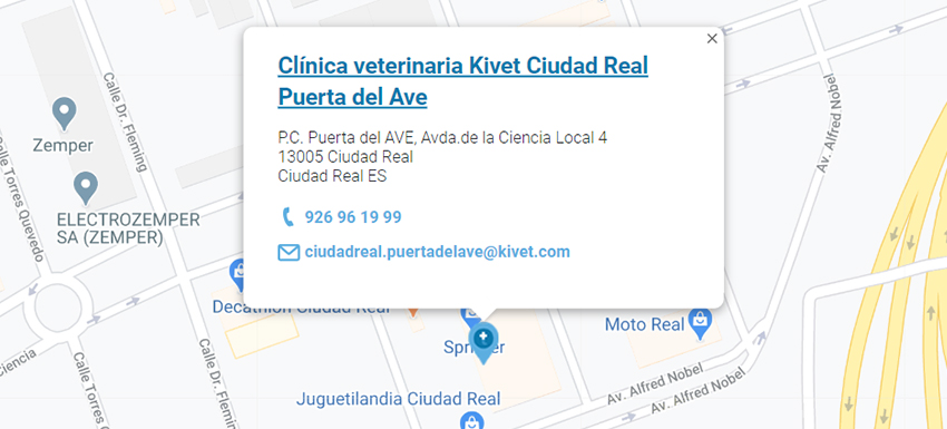 Mapa Kivet Ciudad Real